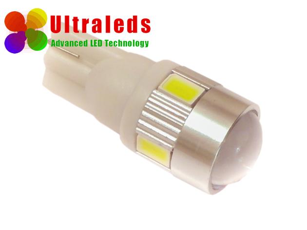 Postojówki LED T10 W5W  LED SMD 5630 + soczewka